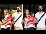 Shahid Kapoor & Mira Rajput Spotted At Airport With Misha Without Covering Her