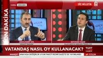 Adalet Bakanı Abdülhamit Gül: '24 Haziran'da iki tercihte bulunacağız. Tek oy pusulası olmayacak, iki oy pusulası olacak. Bir oy pusulasında cumhurbaşkanı için, ikinci oy pusulasında da partilerin unvanı olacak ve herkes kendi partisinin log