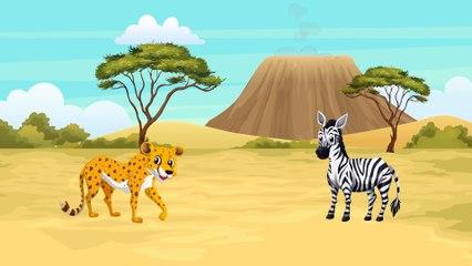Мультики для самых маленьких: Динозавр и Дикие животные. Леопард, Зебра. Животные для детей