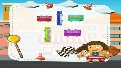 Learn Colors With Police Car & Dinosaurs For Children - Learning Colours for Kids