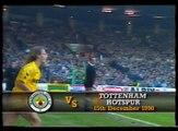 Manchester City - Tottenham Hotspur Hotspur 15-12-1990 Division One