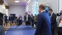 Prince William trash talks Prince Harry during table tennis