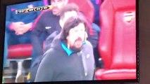 Diego Simeone having a right go at the ref with the classic aul Spanish turn of phrase eres un hijo de puta ArsenalAtleti