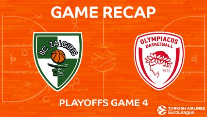 EuroLeague 2017-18 Highlights Playoffs Game 4: Zalgiris 101-91 Olympiacos