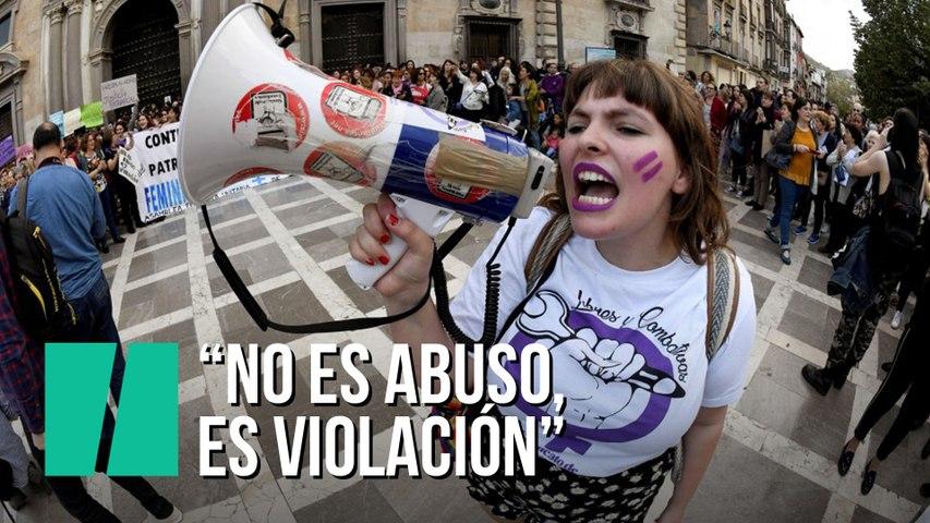"""""""No es abuso, es violación"""", manifestaciones en toda España tras la sentencia a la manada"""