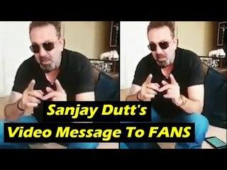 SANJU TEASER Launch | Sanjay Dutt's Video Message To FANS | Ranbir Kapoor
