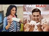 Madhuri Dixit Poses With Sanitary Pad In PadMan Challenge