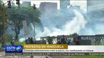 Continúan enfrentamientos entre la policía y los manifestantes en Caracas