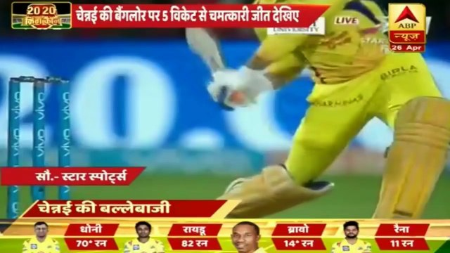 RCB vs CSK IPL 2018 Highlights_ Dhoni leads Chennai to 5 wicket victory in thrilling run chase