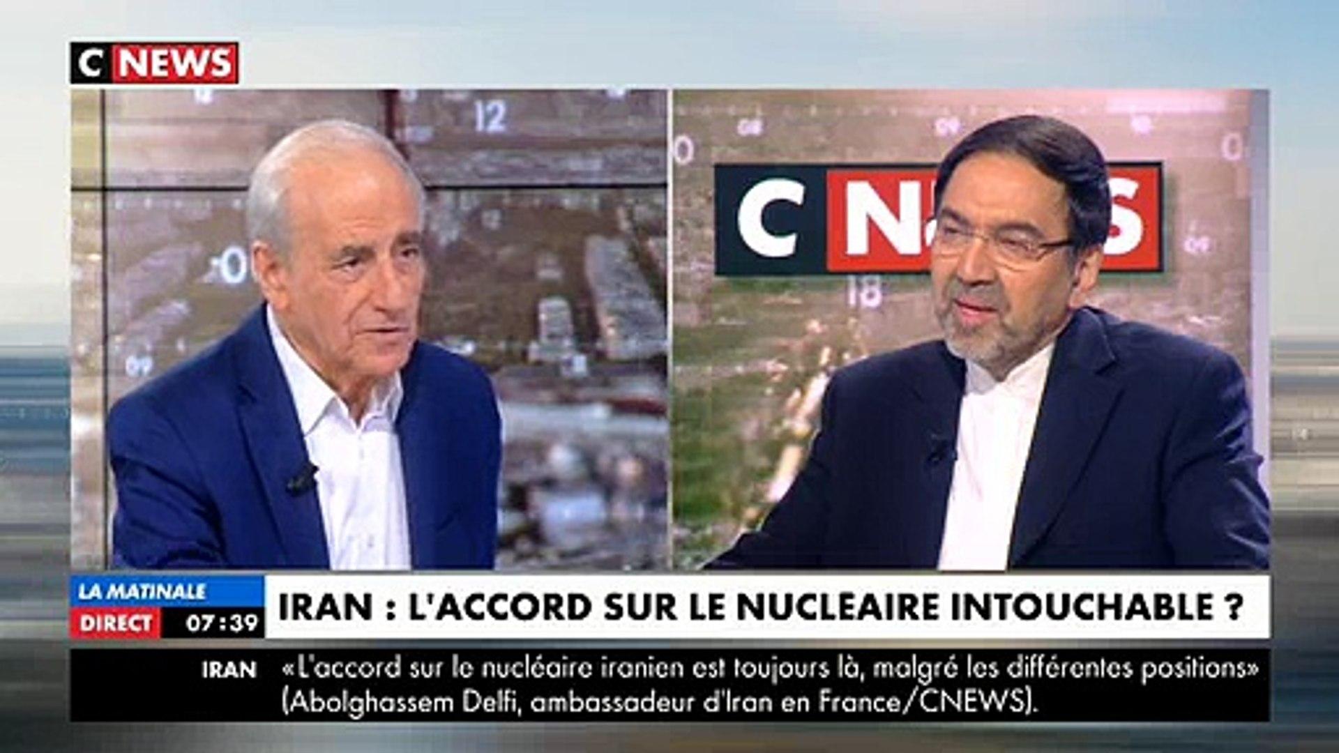 L'ambassadeur d'Iran en France refuse de serrer la main à Clélie Mathias, présentatrice de