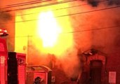 Toronto Firefighters Respond as Large Fire Engulfs Townhouse