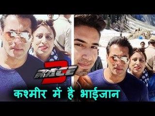 Salman Khan Bonds With Artist Kamran Khan On RACE 3 Sets