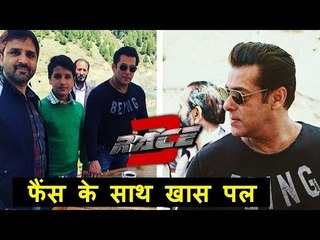 Salman Makes FAN Happy On RACE 3 Sets - Clicks With Him