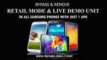 Remove Retail Mode in all Samsung live demo unit include