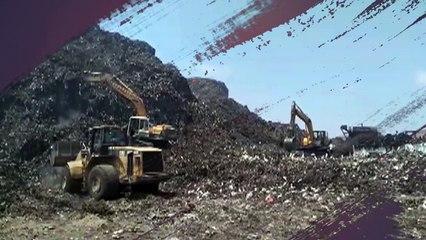 وزير البيئة يتفقد أعمال نقل مخلفات جبل أبو خريطة ب
