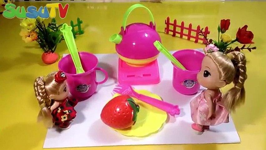 Bộ Đồ Chơi Nấu Ăn Cho Bé Susu & Búp Bê BaBi Uống Trà Ở Công Viên Chị Bí Đỏ - Trò Chơi Trẻ Em An Toàn   Godialy.com