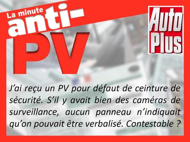 Filmé sans ceinture de sécurité : PV contestable ?