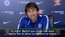 """36e j. - Conte : """"Très content de la performance de Giroud contre Southampton"""""""
