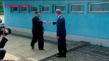 Watch the historic moment when DPRK leader Kim Jong Un stepped into South Korea to meet with President Moon Jae-in at the first inter-Korean leaders summit in m