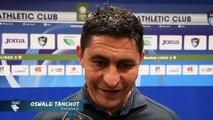 Après HAC - AC Ajaccio (2-0), réaction d'Oswald Tanchot