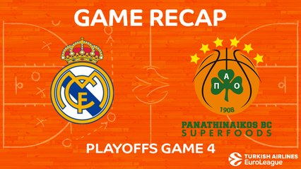EuroLeague 2017-18 Highlights Playoffs Game 4 video: Madrid 89-82 Panathinaikos