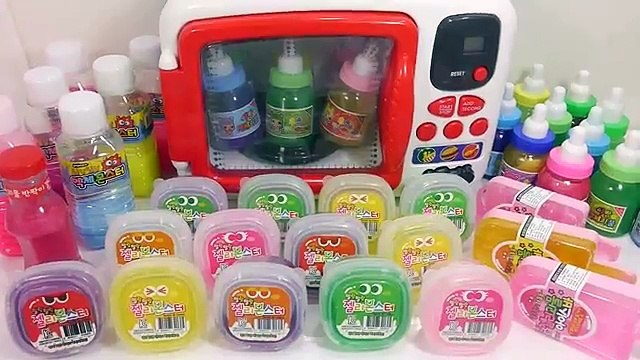 DIY Combine All the Colors Slime Clay Microwave Oven Toy Learn Colors Glitter Slime Case