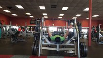 405lb RAW bench press - 153lb body weight - video with bench routine 405 153