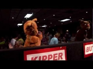 Sooty, Sweep and Soo perform 'We Are Family'