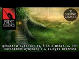 Schubert  Symphony No  8 in B Minor, D  759 Unfinished Symphony  I  Allegro moderato