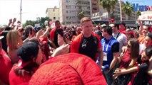 RCT-Castres: l'arrivée des Toulonnais à Mayol