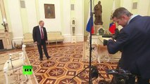 Putin jokes as his Japanese pet barks at Japanese journalists_ Yume is no-nonsense dog!
