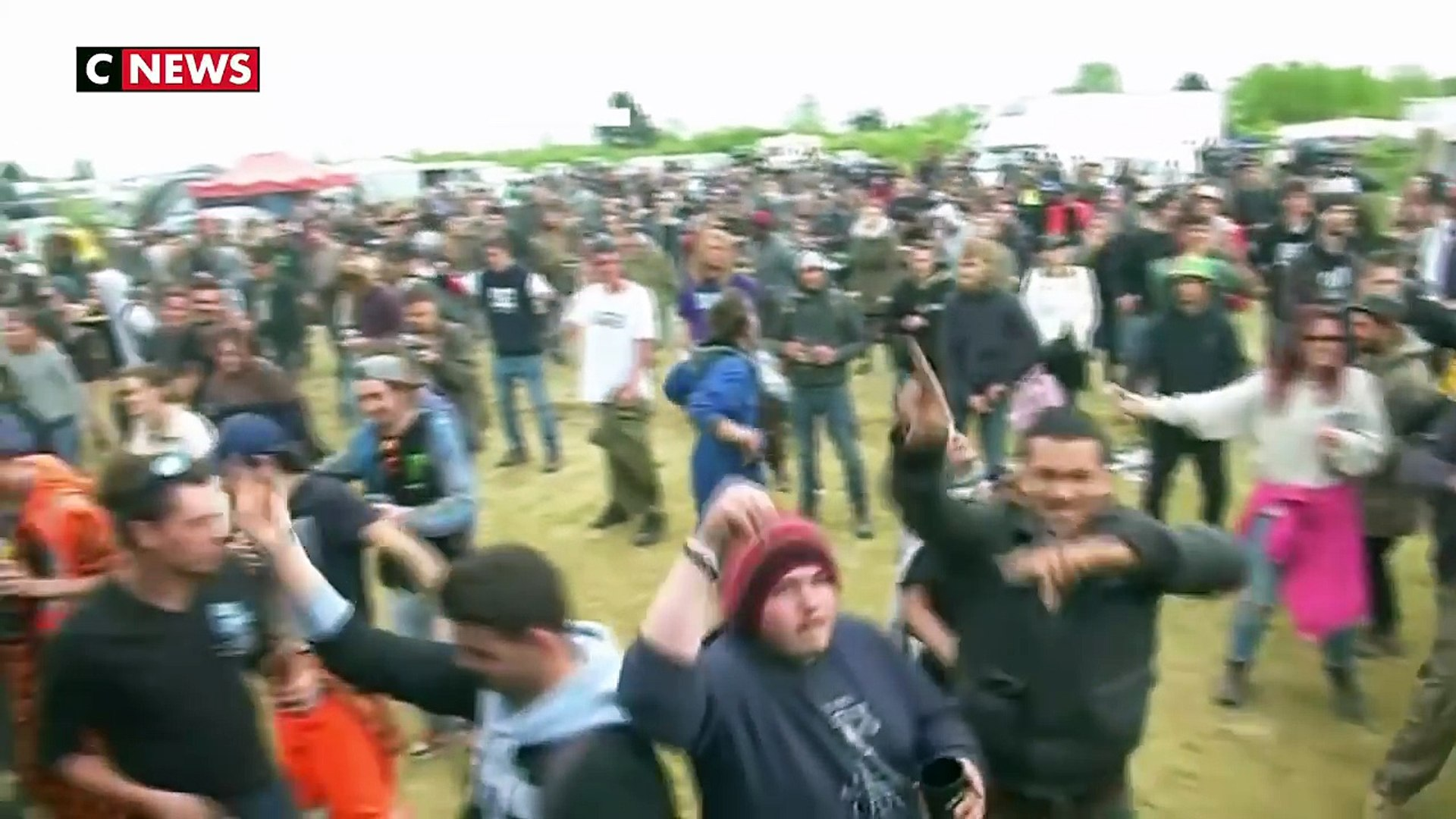 25 ème Teknival du 1er Mai à Marigny - Reportage CNEWS - 27/04/2018