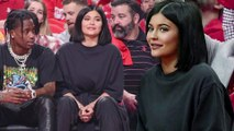 Kylie Jenner and Travis Scott attend basketball game after being mom-shamed for going to Coachella.