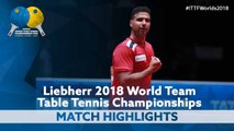 2018 World Team Championships Highlights | Timo Boll vs Omar Assar (Groups)