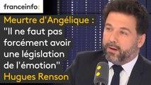 """Meurtre d'Angélique : """"Il ne faut pas forcément avoir une législation de l'émotion. Un parlementaire, fut-il de la majorité comme je le suis, ne va pas arriver le lundi matin avec une solution toute faite"""" réagit le député Hugues Renson (LREM)"""