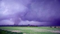 De nombreuses tornades ont frappé la Marne le 29 Avril 2018. Impressionnant