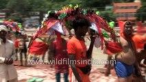 Hindu farmer boys have a good time,  but seem to behave like goons!