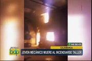 Cajamarca: joven muere tras voraz incendio en taller mecánico