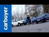 Best 4x4s and SUVs - Nissan Qashqai vs Dacia Duster vs Mazda CX-5 - Carbuyer