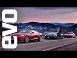 Ferrari F12 vs Lamborghini Aventador vs Aston Vanquish   evo REVIEW