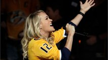 Carrie Underwood Sang The National Anthem At Nashville Predators Game