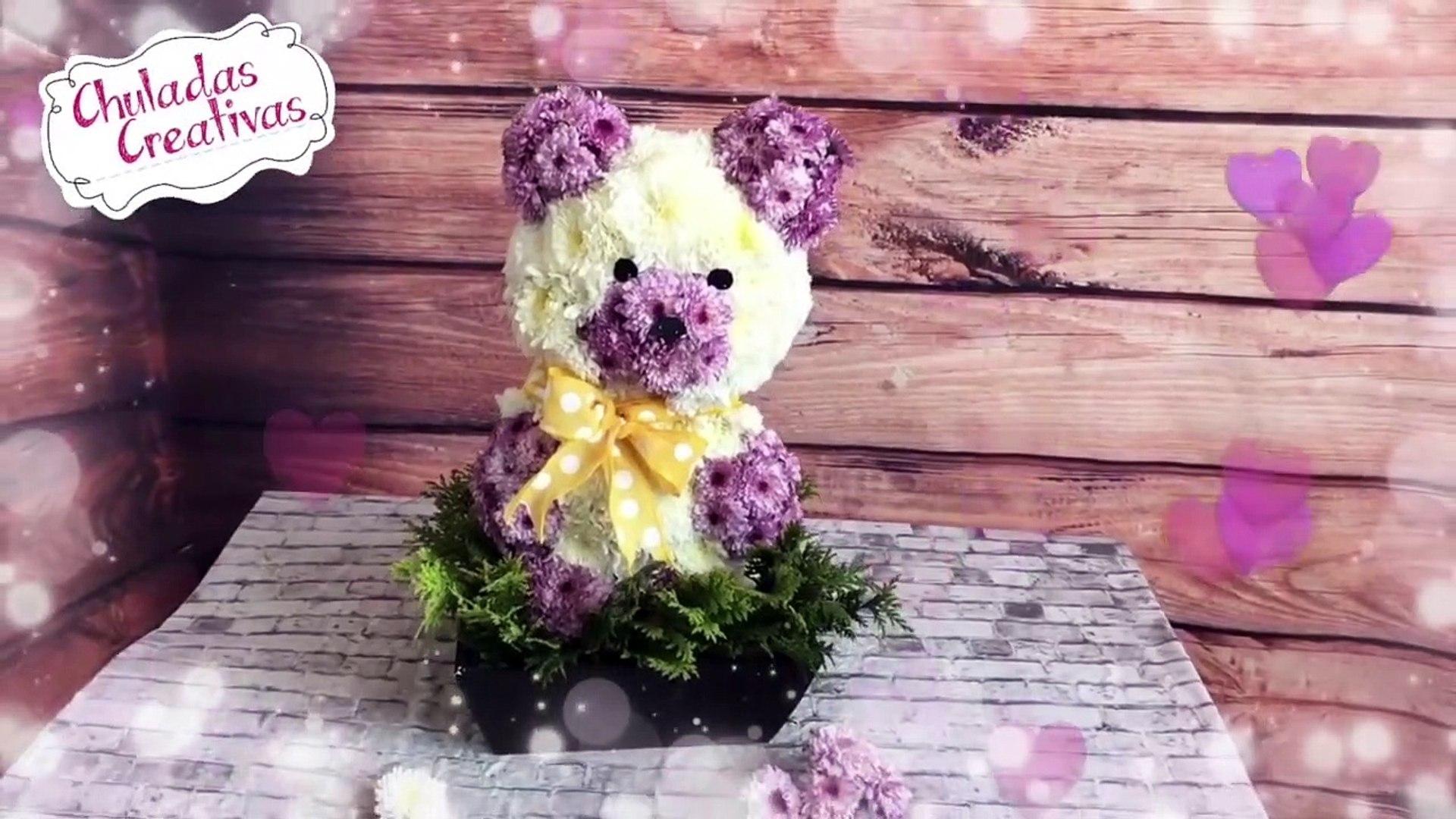 Osito Floral Regalo Especial Para Mamá Arreglo De Flores Chuladas Creativas Margaritas Diy