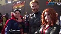 Avengers: Infinity War အထူးပြဲကို စံုစံုညီညီ တက္ေရာက္လာတဲ့ အႏုပညာ ၾကယ္ပြင့္ေတြဧၿပီ - ၂၄ ၊၂၀၁၈ Avengers: Infinity Warရဲ႕ ႏုိင္ငံတကာ အဖြင့္ အထူးပြဲကို အေမရိကန