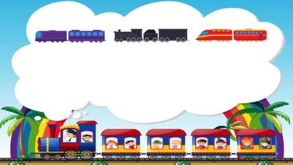 Funny Dinosaur Cartoons episode 2 Learn Trains | Videos for Babies | Toon-O-Saur