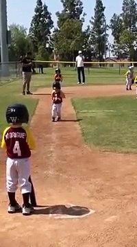 Little Kid Runs in Slow Motion During Baseball Game - 988585