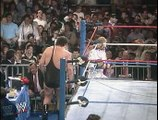WWF 1988 Wrestlemania 4: Randy Savage (with Elisabeth and Hulk Hogan) vs Ted Dibiase (with Andre the Giant)
