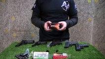 Essais des pistolets des pistolet à blanc Retay- Armurerie Auxerre