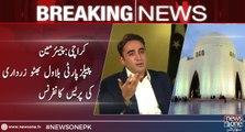 Karachi Press conference of Chairman PPP Bilawal Bhutto Zardari