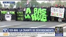A Paris, 1.200 personnes cagoulées prennent part à la manifestation