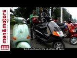 Piaggio 4T Sfera vs Piaggio Hexagon vs Piaggio Vespa ET4 - Isle Of Man Road Test
